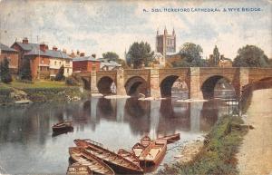 uk26267 wye bridge and hereford cathedral uk