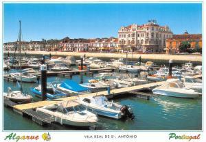 Portugal Algarve Vila Real de S Antonio Harbour Boats