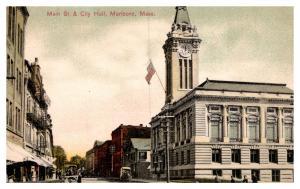 Massachusetts Marlboro , Main street and City Hall
