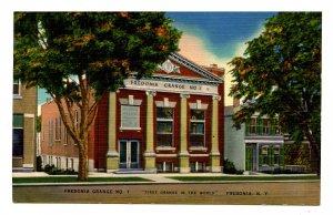 NY -  Fredonia. Fredonia Grange No. 1  (First in the World)