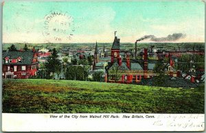 1907 New Britain, Connecticut Postcard View of the City from Walnut Hill Park