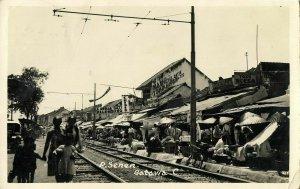 indonesia, JAVA BATAVIA, Pasar Senen (1934) RPPC Postcard