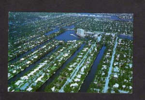 FL Houses Aerial View Ft Fort Lauderdale Florida Postcard