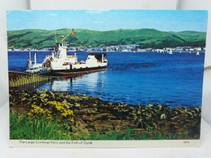 Vintage Postcard The Largs Cumbrae Ferry and the Firth of Clyde