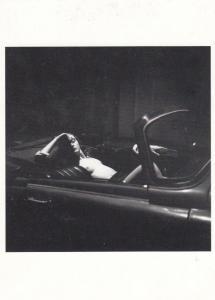 Risque Fonz Man Sleeping In Prague Cadillac Czech Republic Classic Car Postcard