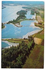 South Vietnam Aerial View Qui Nhon Coastal Plain Postcard