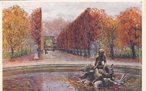 Schonbrunn, Brunnengruppe Mit Allee, Wien, Austria, 1900-1910s