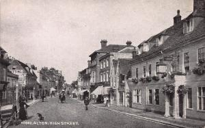 Alton, High Street, England, Great Britain, Early Postcard, Unused