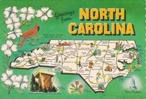 Map Of North Carolina Greetings From North Carolina