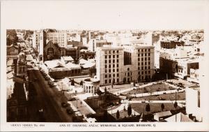 Brisbane Australia Ann Street Anzac Memorial Unused Sidues 690 RPPC Postcard E57