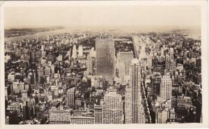 New York City North View From Empire State Building 1944 Real Photo