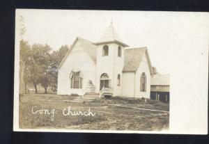 RPPC HOLYROOD KANSAS CONGREGATIONAL CHURCH BUILDING REAL PHOTO POSTCARD