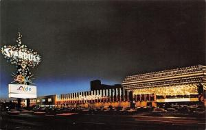 Las Vegas Nevada~Stardust Hotel~Night Lights~1960s Postcard