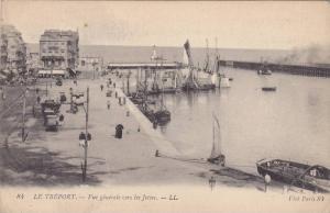 Sailboats, Vue Generale Vers Le Jetees, Le Treport (Seine Maritime), France, ...
