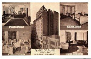 New York City Hotel St James 1939