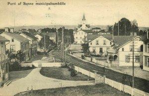 sweden, SUNNE, Parti af Municipalsamhälle (1908) Postcard