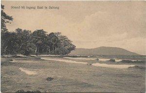 Dutch Indonesia Strand bij ingang Baai te Sabang 03.92