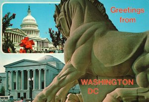 Vintage Postcard Greetings from Washington DC National Gallery of Art W DC