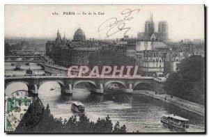 Postcard Old Paris Ile de la Cite