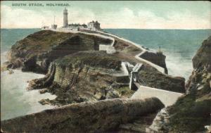 Holyhead UK South Stack Lighthouse c1910 Postcard