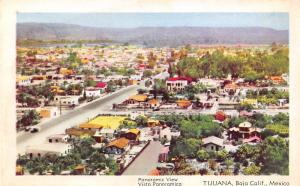 Tijuana Baja California Mexico~Panorama~Homes & Neighborhoods~1950s Postcard