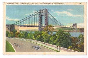 George Washington Bridge Riverside Drive New York NY Linen
