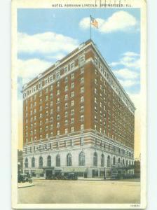 W-Border ABRAHAM LINCOLN HOTEL Springfield Illinois IL HQ4863