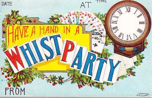 Have a Hand in a Whist Party - Invtation Card
