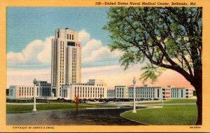 Maryland Bethesda United States Naval Medical Center 1944 Curteich