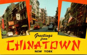 New York City Greetings From Chinatown Multi View