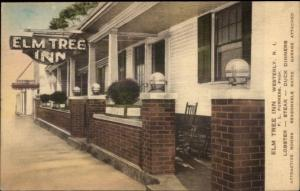 Westerly RI Elm Tree Inn Hand Colored c1930 Postcard