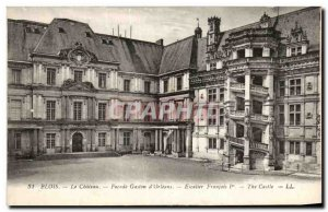 Old Postcard Blois Chateau Facade of Gaston & # 39Orleans Staircase Francois 1er