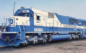 Railroads, Train - GM Electromotive EMD #1    SD60     railroadcards.com