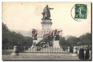 Old Postcard Gambetta Cahors Monument by Falguire