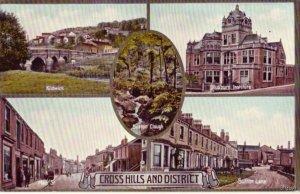 CROSS HILLS AND DISTRICT ENGLAND VARIOUS VIEWS GLUSBURN INSTITUTE KILDWICK