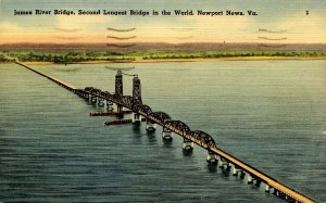 VA - Newport News. James River Bridge