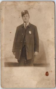 1910s Atlanta GA RPPC Postcard Street Car Conductor Portrait RANDALL'S STUDIO