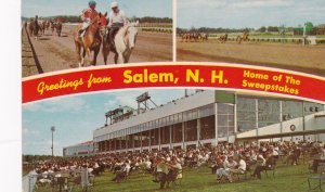 SALEM, New Hampshire, 1940-60s; Greetings, 3-Views of Rockingham Park, Home o...