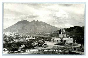 Postcard Obispado y Cerrro de la Silla, Monterrey, Mexico RPPC Y62