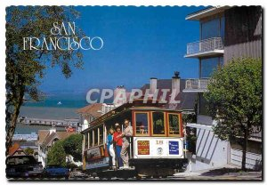 Postcard Modern San Francisco Cable Car