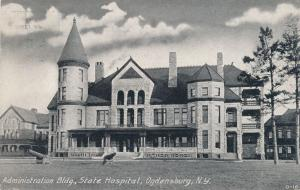 State Hospital Administration Building - Ogdensburg NY, New York - pm 1909 - DB