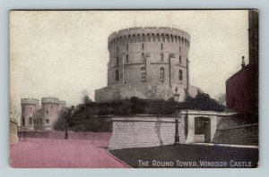 Windsor UK-United Kingdom, Windsor Castle, The Round Tower, Vintage Postcard