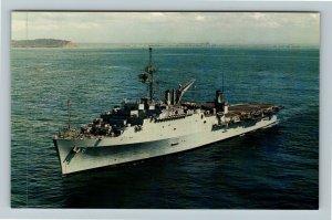 USS Duluth LPD-6 Chrome Postcard