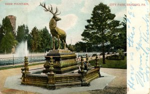 PA - Reading. City Park, Deer Fountain