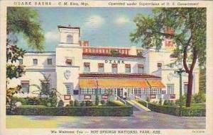 Arkansas Hot Springs National Park Ozak Baths Curteich