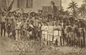 caroline islands, YAP WAQAB, Young Boys of German Mission School (1910) Postcard