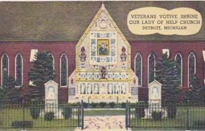Michigan Detroit Veterans Votive Shrine Our Lady Of Help Church 1949 Curteich