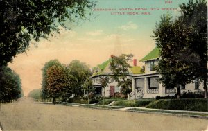 Little Rock, Arkansas - The houses on Broadway, North from 18th Street - c1908