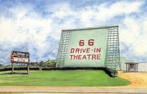 Carthage MO Route 66 Drive-In Theatre Postcard.