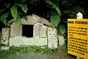New Zealand Rotorua The Buried Village Old Maori Storehouse
